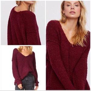 Free People Lofty V Neck Pullover